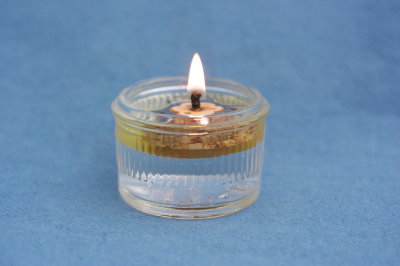 glass container for oil lights
