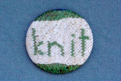 """Anstecker """"knit"""""""