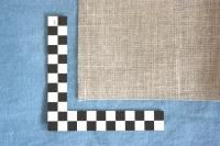 naturfarbener Leinenstoff, 8 Fäden/cm